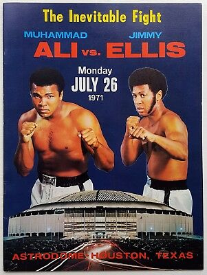 1971 MUHAMMAD ALI v JIMMY ELLIS on-site boxing programme Cassius Clay NEAR MINT