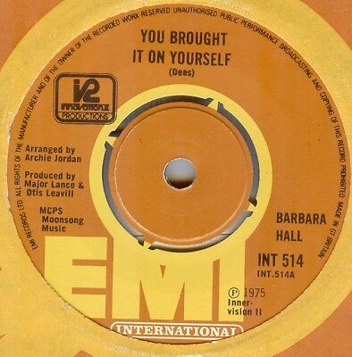 Barbara Hall**you Brought It On Yourself**soul**dancer**listen To It
