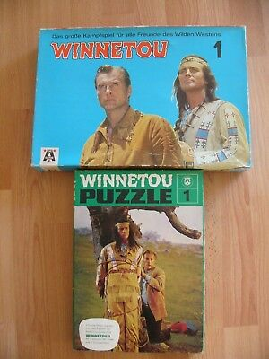 Karl May: Altes Winnetou Spiel Nr.1 + Puzzle Winnetou Nr.1