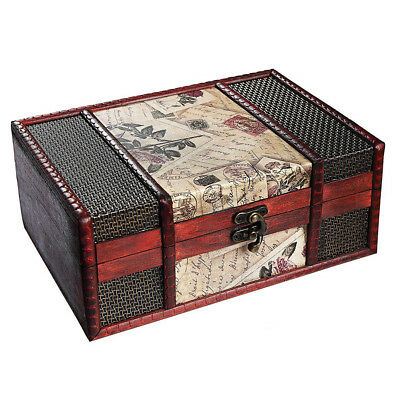 Treasure Box 9.0inch Retro Stamps Small Trunk Box for Jewelry Storage,Treas F5N2