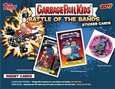 2017 Garbage Pail Kids Battle Of The Bands Complete Set 180 Cards Gpk Adam Bomb