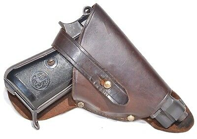 Rare Wwii Italian Rsi Army Leather Gun Holster For Beretta M34 Italy 1944-45