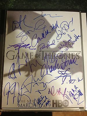 Game Of Thrones Cast Signed 11x14 Signed By 19 Members! HOLOGRAM COA! SEE PICS!
