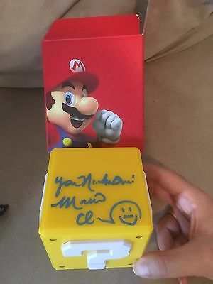 Charles Martinet Coice Of Mario Signed Power Up Block! EXACT PHOTO PROOF!! RARE!