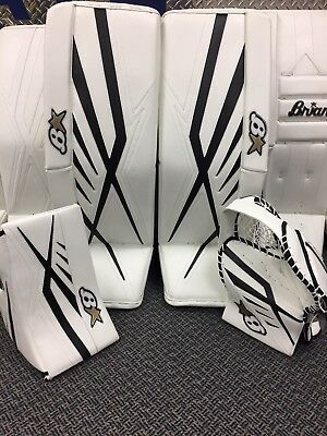 "Brian's Subzero 7.0 Sr Full Set 34""+1"" White Black Goalie Warehouse Sale!!"