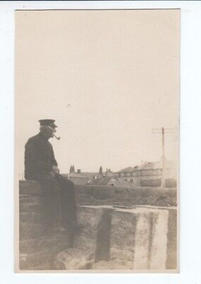 Postcard. Old Sailor. Peel. Isle of Man. Real Photo