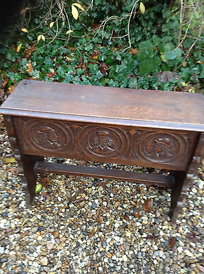 French Vintage Breton Carved Wooden Coffer