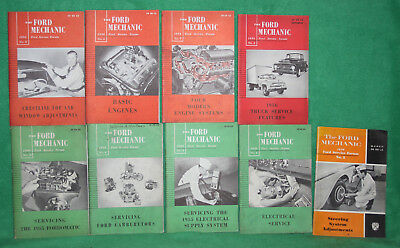*9 1954-1958 The Ford Mechanic Ford Service Forum Booklets Reference 5 3/4-8 3/4