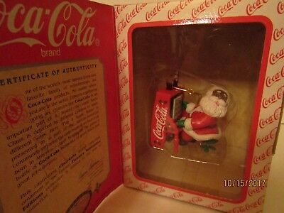 Coca-Cola Masterpiece Collection African American Santa Piano Christmas Ornament