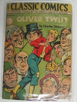 "Classics Illustrated Oliver Twist #23 By Charles Dickens ""fair"""