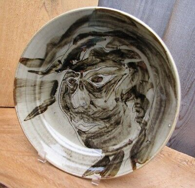 Walter Dexter Charger Plate Canadian Pottery Portrait