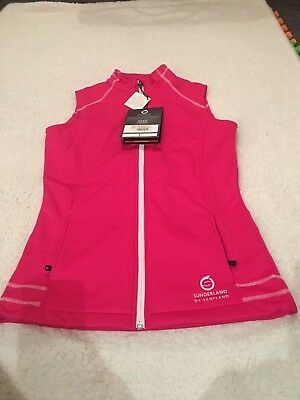 Ladies Bonded Fleece Gilet Sunderland Pink