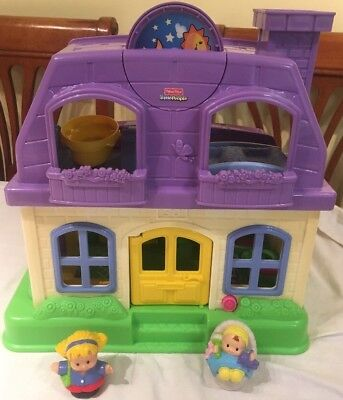 Fisher Price Little People Happy Sounds Home House With Figures