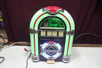 Steepletone Retro Mini Jukebox MP3 CD Rock Mini USB SD FM/AM AUX LED Lights