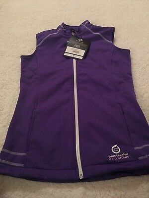 Ladies Purple Sunderland Bonded Fleece Gilet