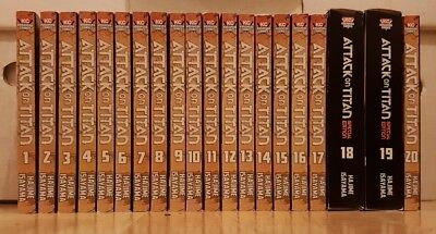 ATTACK ON TITAN 1-20 SPECIAL EDITION DVD Manga Collection Complete Set Volumes