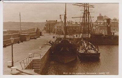 Judges postcard. Boats in the Harbour Penzance. Unposted