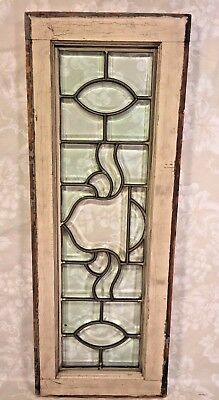 Antique Lead and Beveled Clear Glass in Painted Frame No Hairlines