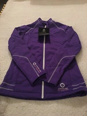 Ladies Purple Fleece Bonded  Sunderland Jacket
