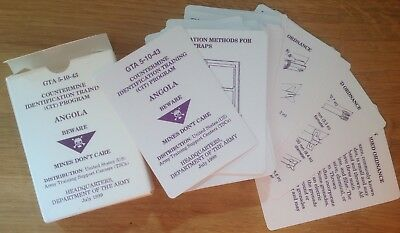 Original 1999 Eod Manual/identification Cards: Angola, Mines, Fuzes, Booby Traps