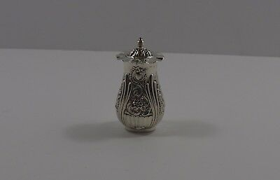 Antique Victorian Silver Pepper Pot Hallmarked Henry Mathews Birmingham 1876