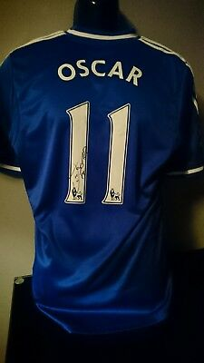 Brazilian Oscar Signed Chelsea shirt with Coa