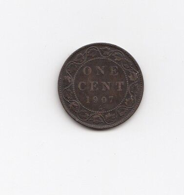 Canada 1 cent coin 1907 key low mintage date