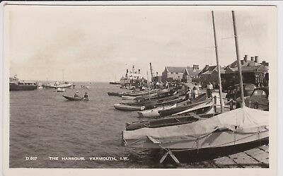 The Harbour Yarmouth real photo Postcard. Beautiful old pic