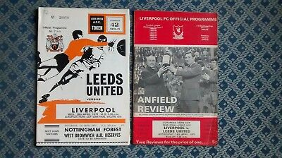 1970 - 1971 Liverpool v Leeds United -  Fairs Cup Semi Final - Both Legs