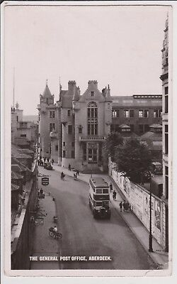 General Post Office Aberdeen posted 1956 Real photo postcard