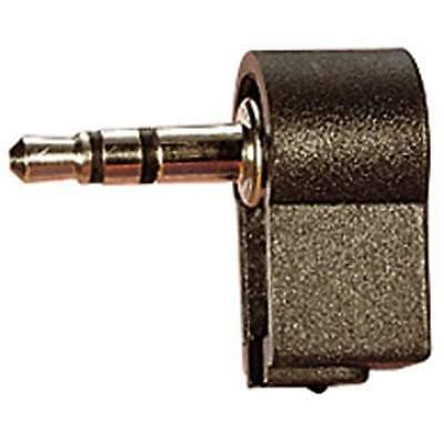 3.5 mm H Q Right Angled Stereo Jack Plug with Solder Terminals Pk of 2