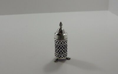 Antique Silver Pepper Pot Hallmarked Barnett Henry Abrahams Birmingham 1901