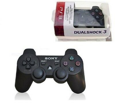 New For Sony Playstation 3 PS3 Dualshock 3 Wireless Controller ( Black )