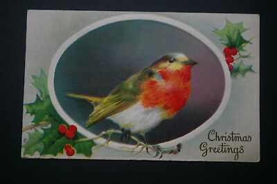 Vintage Victorian Christmas card Embossed early 1900's