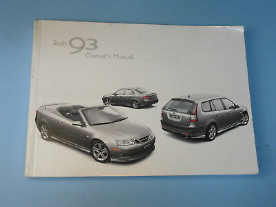 2007 saab 93 factory owners owner s manual 9 75 picclick rh picclick com Saab 9-3 Interior 2007 saab 9-3 2.0t owner's manual