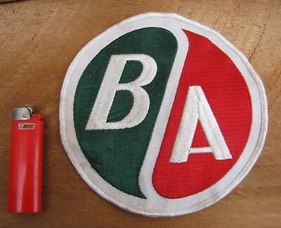 """B/A Oil large embroidered patch 7"""" Canadian Oil British American Gas pump can BA"""