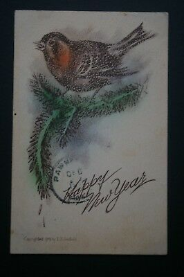 Vintage Edwardian New Year card - early 1900's