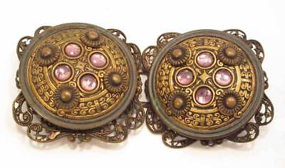 Antique / Vintage Buckle - Like Big Jeweled Buttons