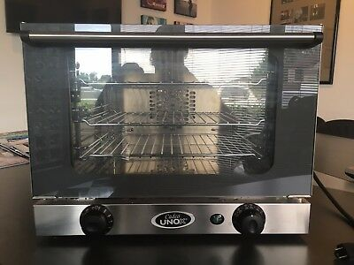 Cadco Unox Ov-250/xa006 Stainless Commercial Countertop Convection Oven