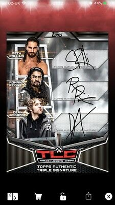 Topps WWE SLAM Black TLC Shield Sig Award