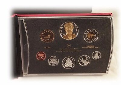 2007 Canada Proof Set With Selectively Gold Plated Thayendanegea Silver Dollar