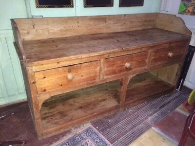 Victorian Pine kitchen base unit. Charming rarity. Full of character. Antique!