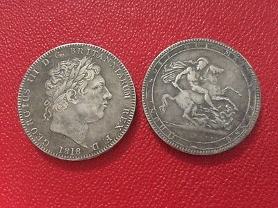 1818 George III Crown coin souvenir exact size