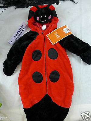 Infant Halloween Costume Bunting Ladybug Very Plush & Warm 6-9 Month New Tags