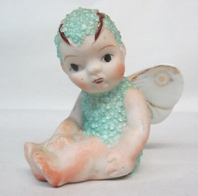 Vintage Salt Glazed Ceramic Fairy Baby - Japan