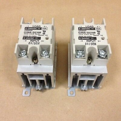 (Lot of 2) Omron G3NA-D210B Solid State Relay 10 A at 24 to 240 VAC*