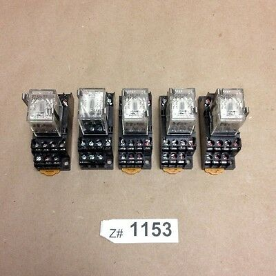Lot of 12 Omron MY2N-D2 24VDC General Purpose Relays with 2-M4X10 Bases