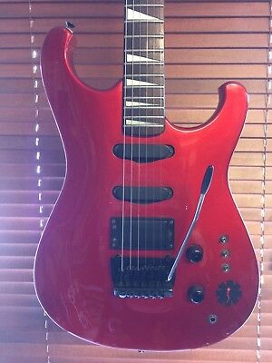 🎸 Vintage Gibson Epiphone 435i  SuperStrat HSS Metallic Red 1984