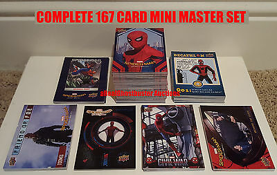 2017 Upper Deck Spider-Man Homecoming Complete 167 Card Mini Master Card Set