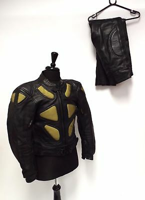 JTS GENUINE LEATHER MOTORCYCLE SUIT Jacket Trousers Quality Top & Bottoms biker